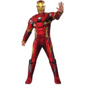 大人用デラックスアイアンマン メンズ 男性用 マーベル アベンジャーズ シビルウォー ハロウィン 仮装 ハロウィン 衣装 コスチューム|arune