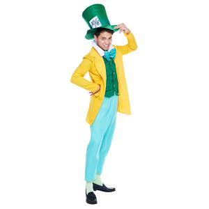 男性用マッドハッター 不思議の国のアリス ディズニー DISNEY ハロウィン メンズ仮装 衣装 コスチューム コスプレ|arune