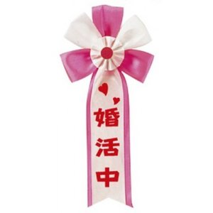 キ章 婚活中 パーティーグッズ・キ章・タスキ・腕章|arune