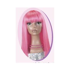 SALE ポップストレート ビビットピンク 仮装、コスプレ衣装、ウィッグ|arune