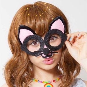 アニマルグラス ねこ アニマルグッズ 仮装 メガネ 仮面 マスク ハロウィン パーティー|arune