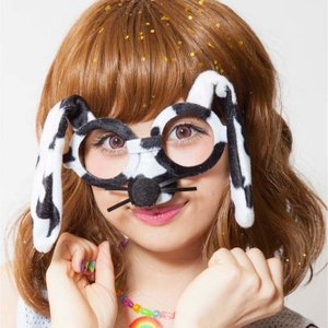 アニマルグラス ダルメシアン アニマルグッズ 仮装 メガネ 仮面 マスク ハロウィン パーティー|arune