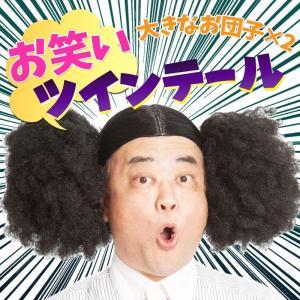 お笑いツインテール 仮装 変身 ウィッグ かつら パーティーグッズ ニッチェ 芸人|arune