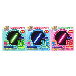 サイリウム ルミカライト 1.5インチセット サイリューム・イベント・ライブ・コンサート・防災グッズ オムニグロー|arune