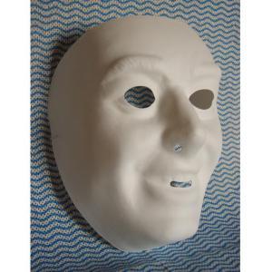 ホワイトマスク Aタイプ 変装 仮装 金爆 風 ゴールデンボンバー 風コスプレ 樽美酒研二風|arune