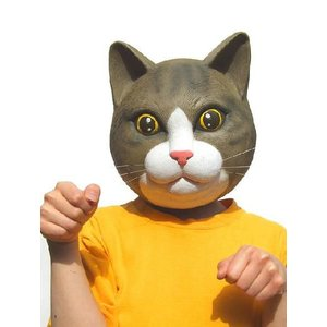 M2 子ねこマスク 変装・仮装・変装グッズ・かぶりもの・被り物・かぶり物・マスク・着ぐるみ・お笑い|arune