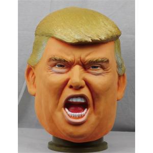 なりきりマスク Mr.トランプ ドナルド・トランプ アメリカ大統領マスク ものまね なりきり 有名人 変装マスク かぶりもの|arune|02