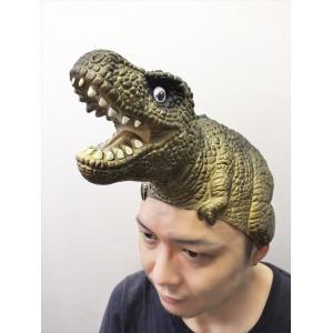 のりザウルス ブラウン なりきりマスク 宴会 恐竜 ダイナソー 仮装 かぶりもの パーティーグッズ 仮装衣装 かぶりもの アニマル 恐竜 恐竜マスク|arune