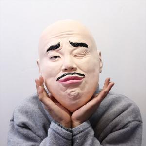 クロちゃん 公式マスク なりきりマスク 宴会 仮装 かぶりもの ネタ パーティーグッズ 仮装衣装 コ...