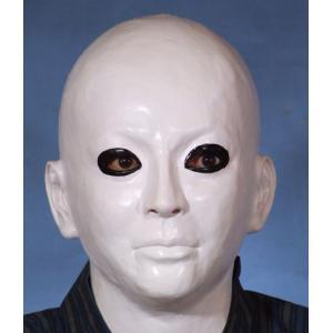 M2 白ぬり かぶりもの マスク 仮装 変装 スケキヨ 風 ハロウィン ホラー|arune