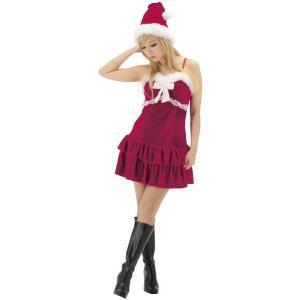 即納 サンタコスプレ・サンタ衣装・サンタコスチューム ミルキーキャミサンタ サンタクロース衣装・レディース|arune