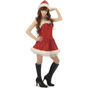 即納 サンタコスプレ・サンタ衣装・サンタコスチューム ジュエリーサンタ サンタクロース衣装・レディース|arune