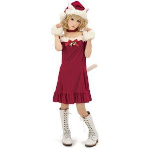 即納 サンタコスプレ・サンタ衣装・サンタコスチューム キャットサンタガール サンタクロース衣装・レディース|arune