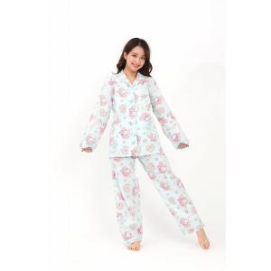 ハートマイメロ ストライプシャツパジャマ SAZAC マイメロディ パジャマ サンリオ サザック|arune