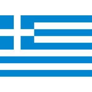 ギリシア代表 応援 ギリシャ国旗 卓上旗サイズ 16×24cm 高級テトロン製 サッカー 応援 鳴り物 ペイント かぶりもの|arune