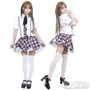 コスプレ コスチューム AKIBA時代H組(LLサイズ) AKB風・アキバ系アイドル・K-POP AKIBAアイドルシリーズ 女装男子|arune