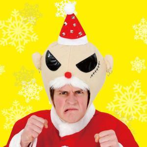 即納 クリスマス おもしろ コスプレ 仮装 変装グッズ ROCKサンタヘッド クリスマス おもしろ コスプレ 仮装 変装グッズ 安い 笑える 爆笑 衣装|arune