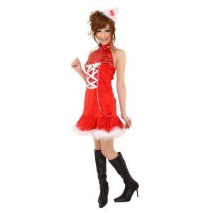 即納 クリスマス コスプレ サンタ レディース ジュエルタイトンサンタ クリスマス コスプレ レディース おもしろ 安い トナカイ ツリー サンタクロース|arune