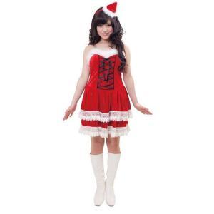 即納 クリスマス コスプレ サンタ レディース ニットレースアップサンタ クリスマス コスプレ レディース おもしろ 安い トナカイ ツリー サンタクロース|arune