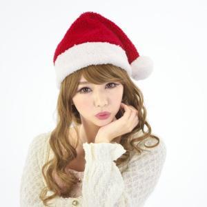 ふわもこサンタ帽子 あか お揃いクリスマス クリスマス コスチューム コスプレ サンタ サンタクロース 衣装|arune