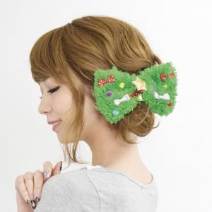 サンタコスチューム クリスマス衣装 盛り上げクリスマス ヘアアクセ もこもこリボン クリップ|arune