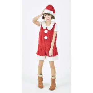 マシュマロサンタレディース 女性用 サンタクロース Xmas クリスマス 衣装 コスチューム コスプレ|arune