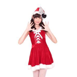 ふわふわパウダーサンタ クリスマス サンタクロース 衣装 コスチューム Xmas コスプレ プチプラ|arune
