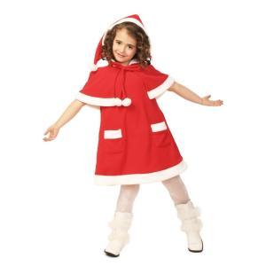キッズケープサンタ 120 家族クリスマス キッズ クリスマス コスチューム コスプレ サンタ サンタクロース 衣装|arune