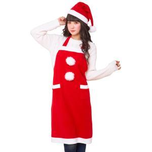 サンタエプロンセット 家族クリスマス 男女兼用 クリスマス コスチューム コスプレ サンタ サンタクロース 衣装|arune