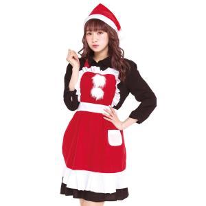 ギフト クリスマス コスプレ サンタ レディース フリルクリスマスエプロン クリスマス コスプレ レディース おもしろ 安い|arune