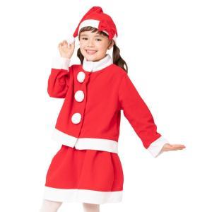 キッズツーピースサンタ 120 家族クリスマス キッズ クリスマス コスチューム コスプレ サンタ サンタクロース 衣装|arune
