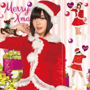 即納 クリスマス コスプレ サンタ レディース ニットレースジャケットサンタ クリスマス コスプレ レディース おもしろ 安い トナカイ ツリー サンタクロース|arune
