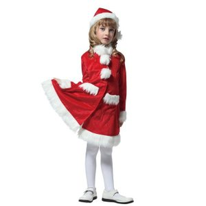 キッズAラインサンタコート 120 家族クリスマス キッズ クリスマス コスチューム コスプレ サンタ サンタクロース 衣装|arune