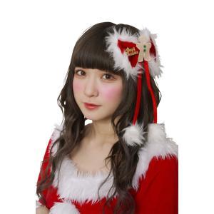 クリスマス仮装グッズ ヘアアクセサリー ジンジャーリボンピン|arune