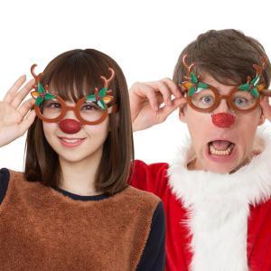 トナカイサングラス サンタクロース 衣装 コスチューム クリスマス コスプレ 販促 業務用|arune