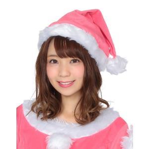 サンタ帽子 ピンク サンタクロース Xmas クリスマス 衣装 コスチューム|arune