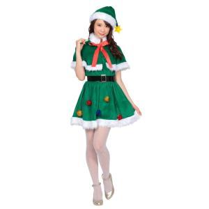 ホーリーナイトツリー レディース 女性用 ツリー Xmas クリスマス 衣装 コスチューム コスプレ|arune