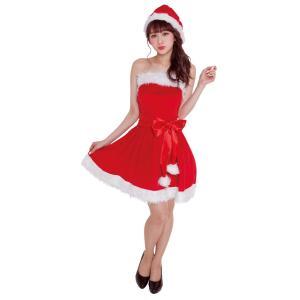 パーティーサンタ レッド レディース 女性用 サンタクロース Xmas クリスマス 衣装 コスチューム コスプレ|arune