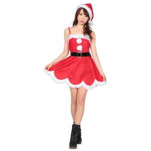 デイジーワンピースサンタ レディース 女性用 サンタクロース Xmas クリスマス 衣装 コスチューム コスプレ|arune