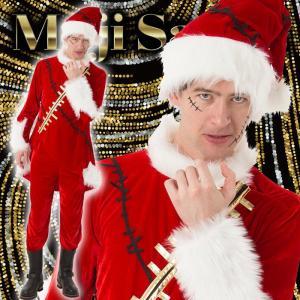 マジサンタ ビリビリクラッシュサンタ メンズ 男性用 サンタクロース Xmas クリスマス 衣装 コスチューム|arune