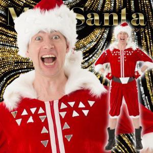 マジサンタ ブロークンミラーサンタ メンズ 男性用 サンタクロース Xmas クリスマス 衣装 コスチューム|arune