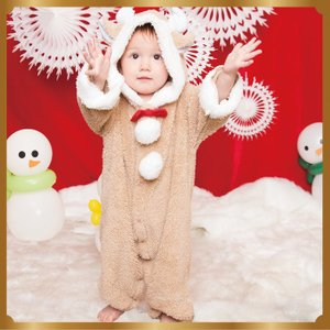 マシュマロトナカイ Baby 子供用 キッズ ベビー サンタクロース Xmas クリスマス 衣装 コスチューム|arune