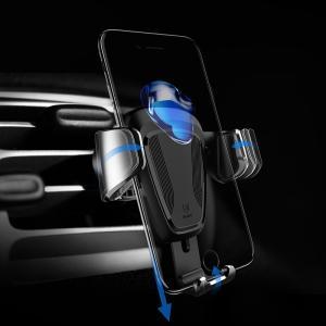 車載ホルダー Baseus 高品質 車載 自動的 スタンド エアコン吹き出し口 オートホールド機能  簡単取り外し 携帯スタンド  スマートフォン 端末ホルダー|arunmui
