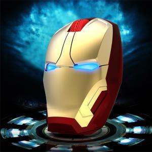 アイアンマン光学式無線マウス LEDライト大人気Iron Man個性的ワイヤレスwireless光学式USBマウス2.4GHzパソコン周辺機器|arunmui