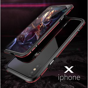 表面背面ガラスフィルム付き 新登場 2色 亮剣 iphone X アルミバンパー iphoneX ケース アイホンX合金フレーム 薄型高品質金属アイフォンXバンパーメタルカバー|arunmui