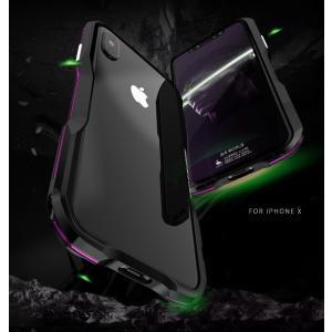 表面ガラスフィルム付き 新登場 2色 利刃 iphone X アルミバンパー iphoneX ケース アイホンX合金フレーム ねじ留め式人体工学設計メタル フレーム金属人気合金|arunmui