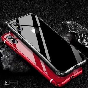 表面ガラスフィルム付き iphone X アルミバンパー iPhoneXsMax ケース 高品質アルミ製フレーム+バックプレート スクラッチ保護 iPhoneX カバー 耐衝撃|arunmui