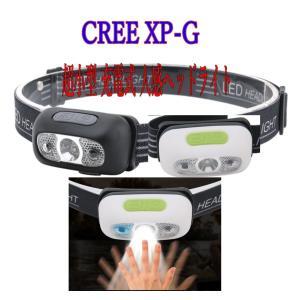 小型、充電式センサーヘッドライト/CREE XP-G 500ルーメン 軽量、コンパクト/夜釣り 災害時&レジャー|arusena39