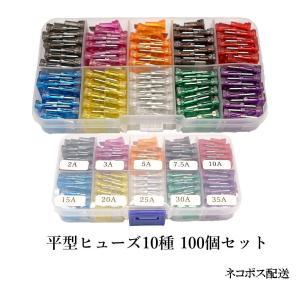 平型ヒューズ 10種、100個セット BOX入り H1010