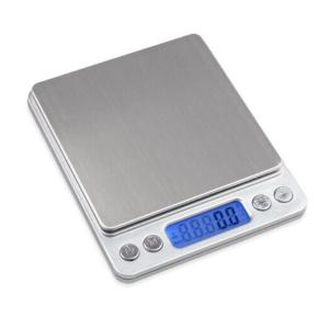 デジタルキッチンスケール 0.1g-3kg  電子はかり  計量皿2個付